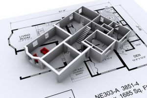 3D Model of a new house plan